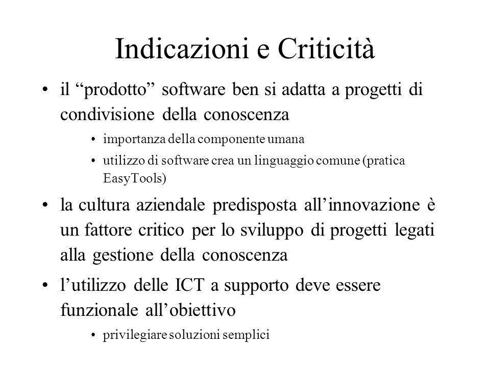 Indicazioni e Criticità