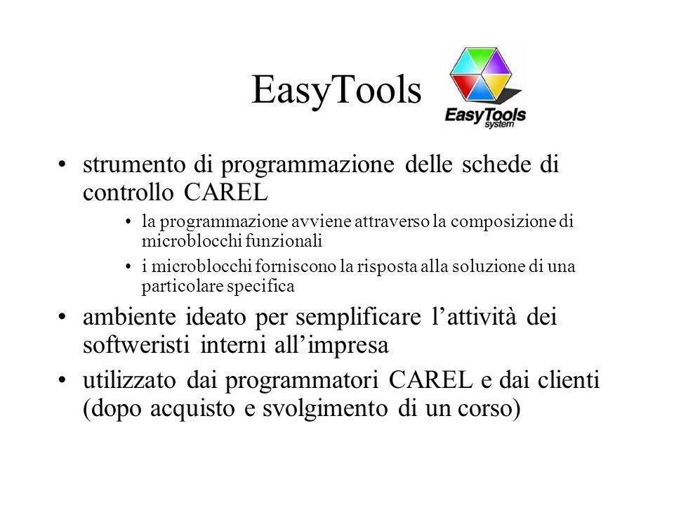 EasyTools strumento di programmazione delle schede di controllo CAREL