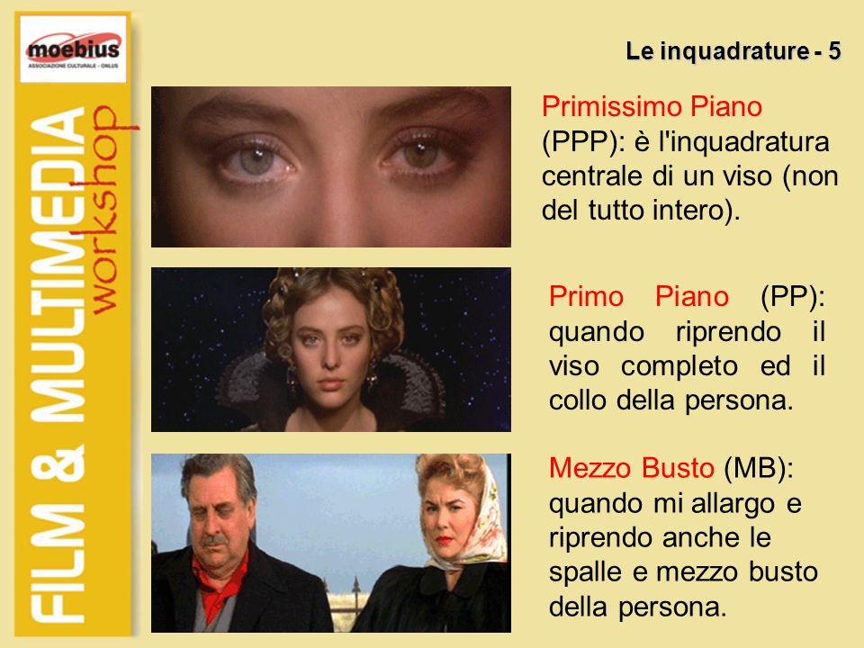 Le inquadrature - 5 Primissimo Piano (PPP): è l inquadratura centrale di un viso (non del tutto intero).
