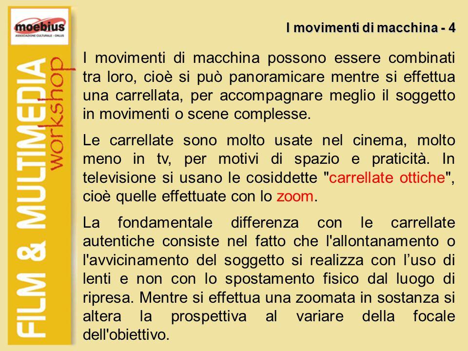 I movimenti di macchina - 4