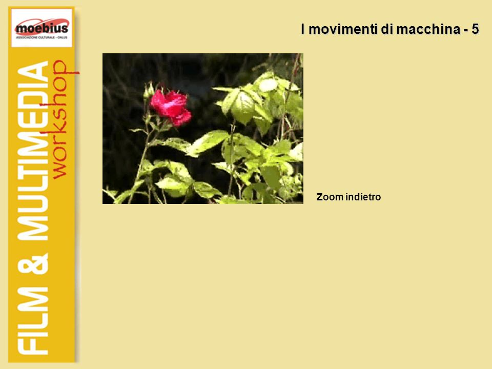 I movimenti di macchina - 5