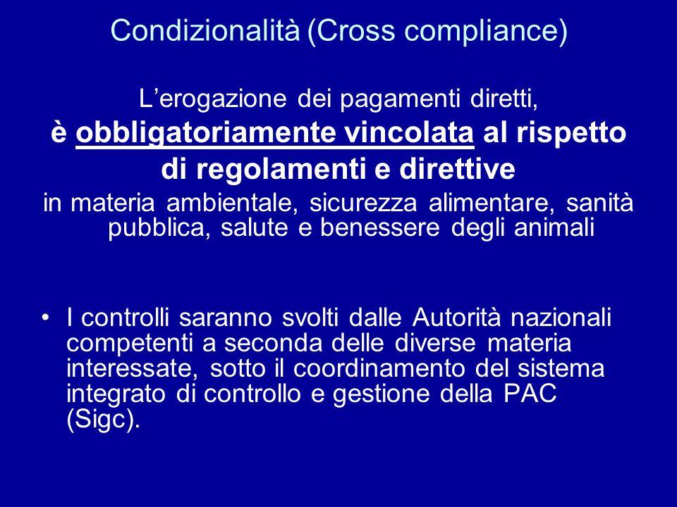 Condizionalità (Cross compliance)