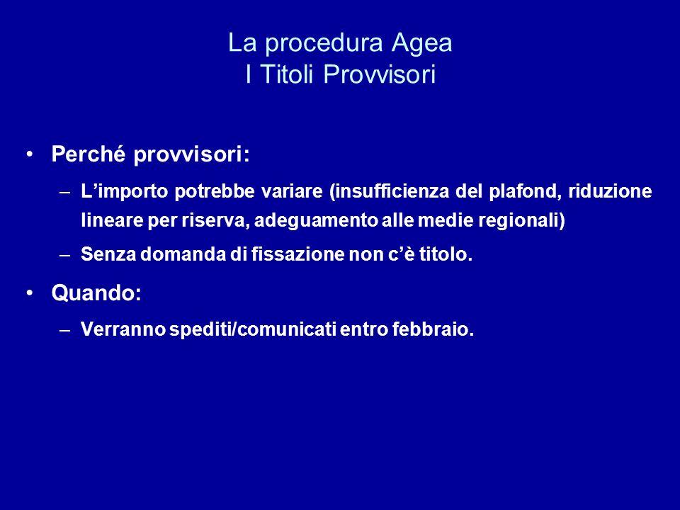 La procedura Agea I Titoli Provvisori