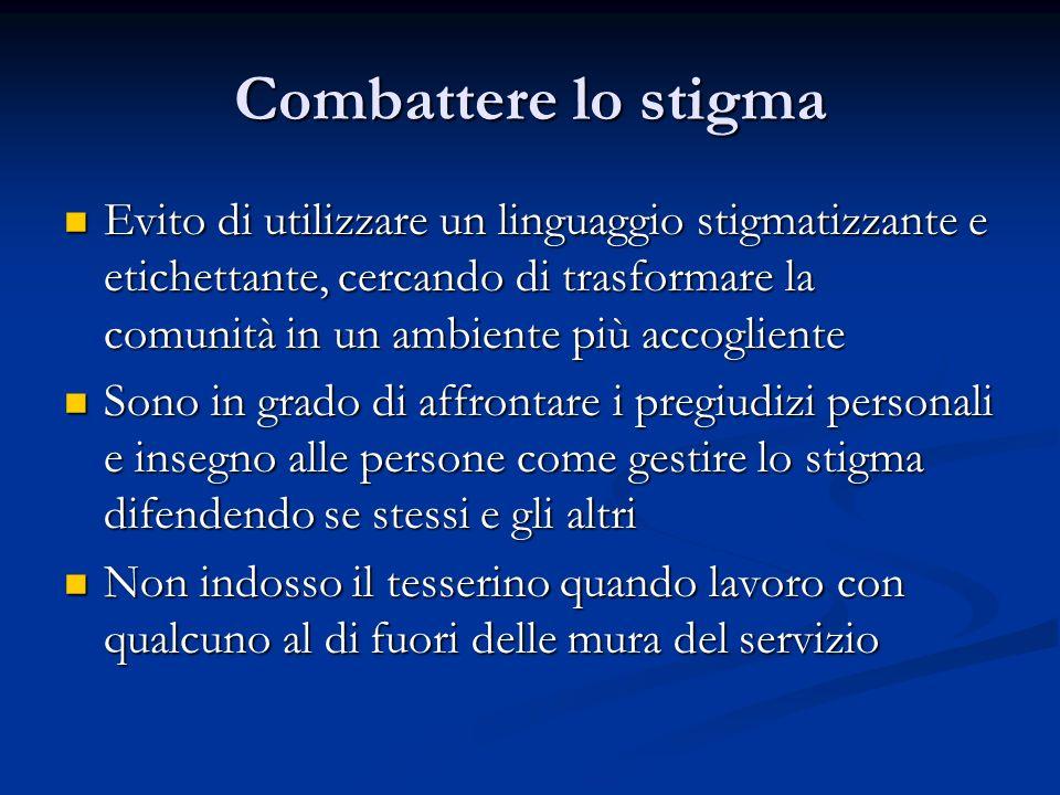 Combattere lo stigma