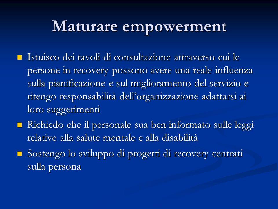 Maturare empowerment