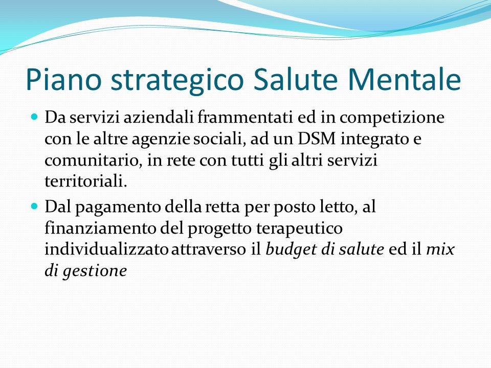Piano strategico Salute Mentale