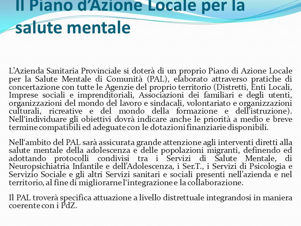 Il Piano d'Azione Locale per la salute mentale