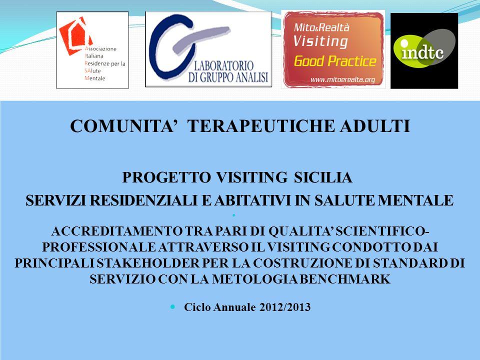 COMUNITA' TERAPEUTICHE ADULTI