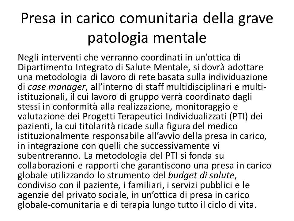 Presa in carico comunitaria della grave patologia mentale