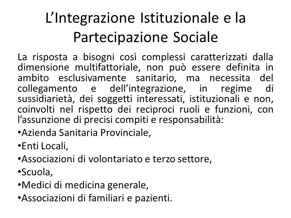 L'Integrazione Istituzionale e la Partecipazione Sociale