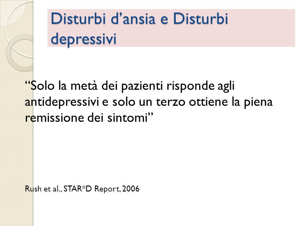 Disturbi d'ansia e Disturbi depressivi