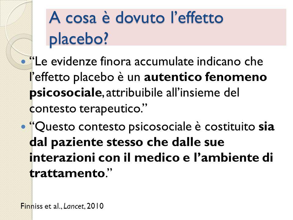 A cosa è dovuto l'effetto placebo