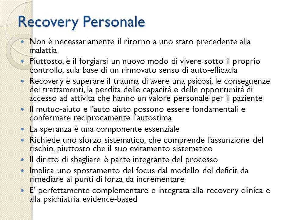 Recovery Personale Non è necessariamente il ritorno a uno stato precedente alla malattia.