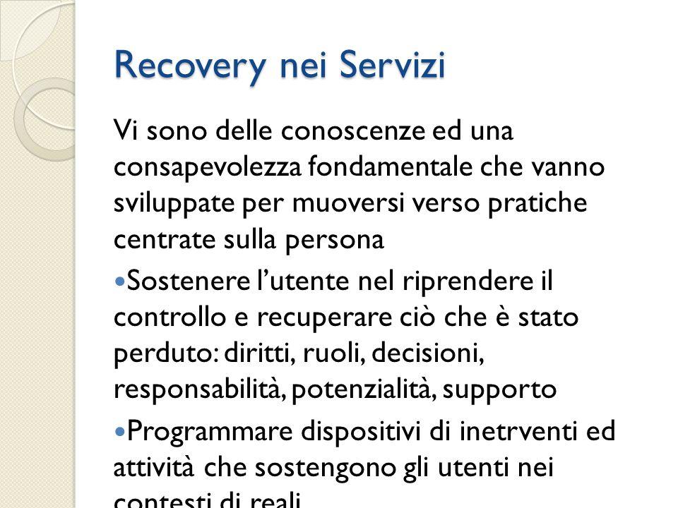 Recovery nei Servizi