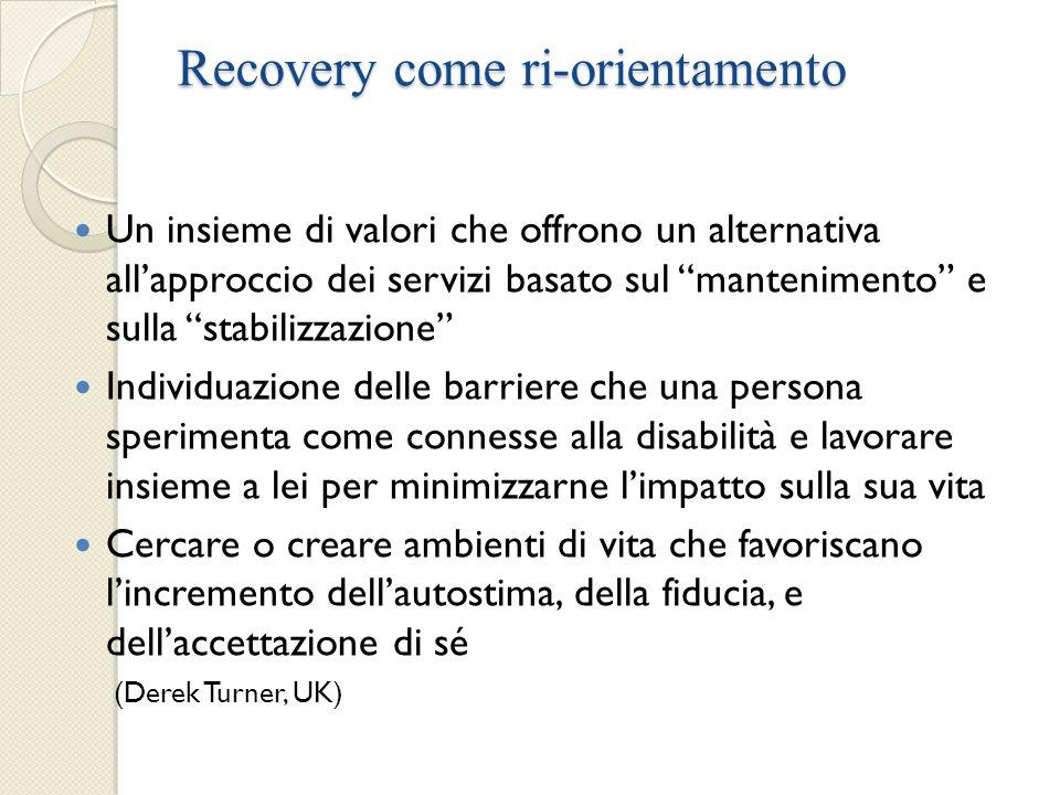 Recovery come ri-orientamento