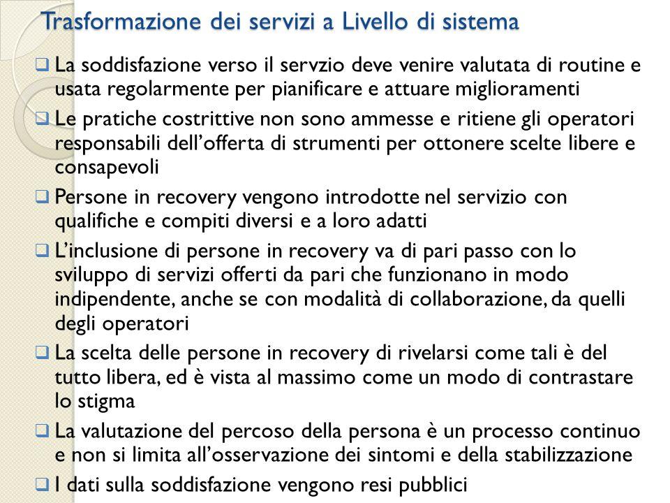 Trasformazione dei servizi a Livello di sistema