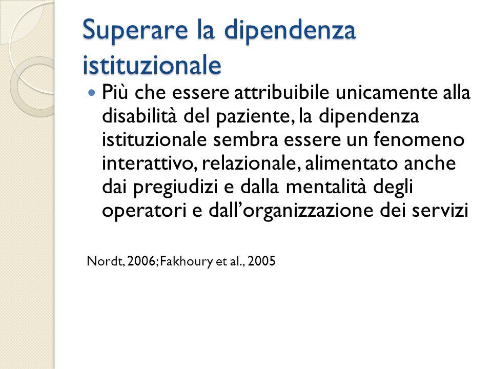 Superare la dipendenza istituzionale