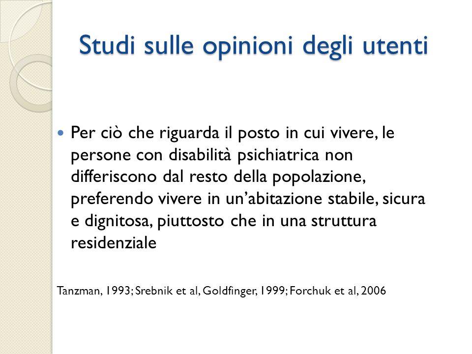 Studi sulle opinioni degli utenti
