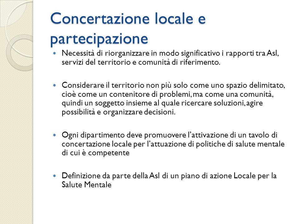 Concertazione locale e partecipazione