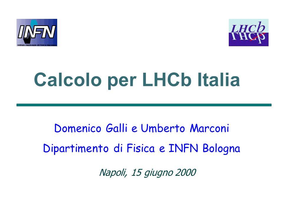 Calcolo per LHCb Italia