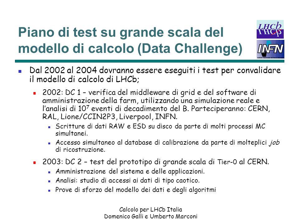 Piano di test su grande scala del modello di calcolo (Data Challenge)