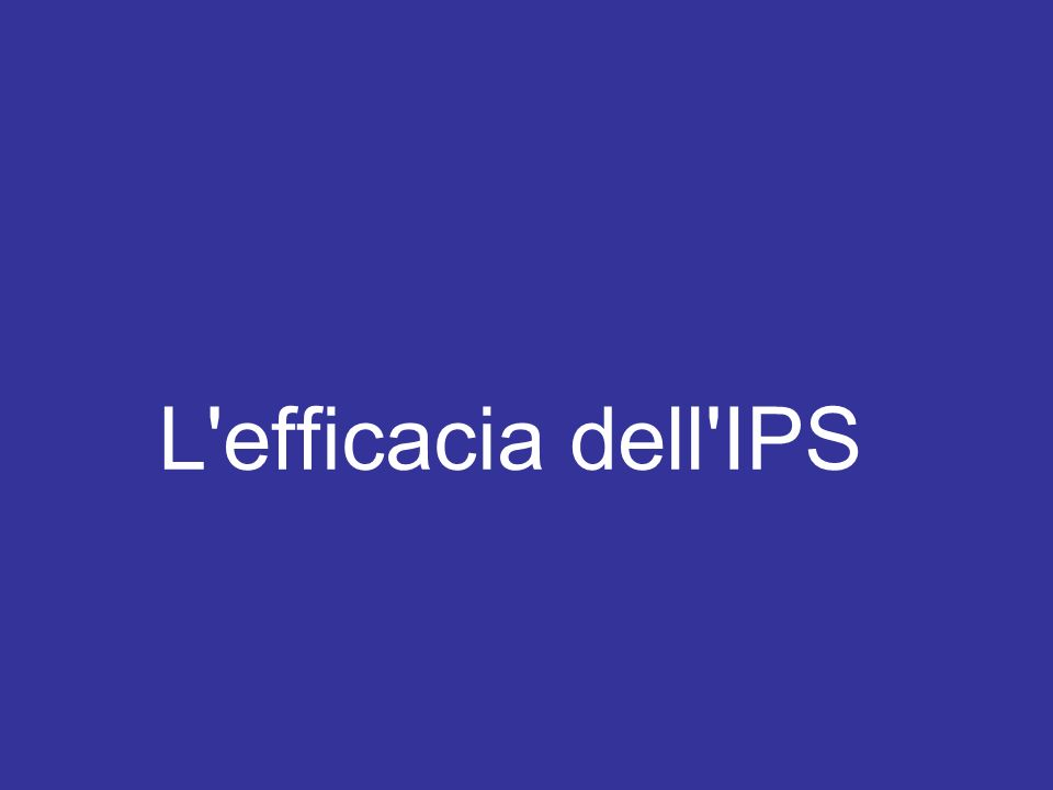 L efficacia dell IPS