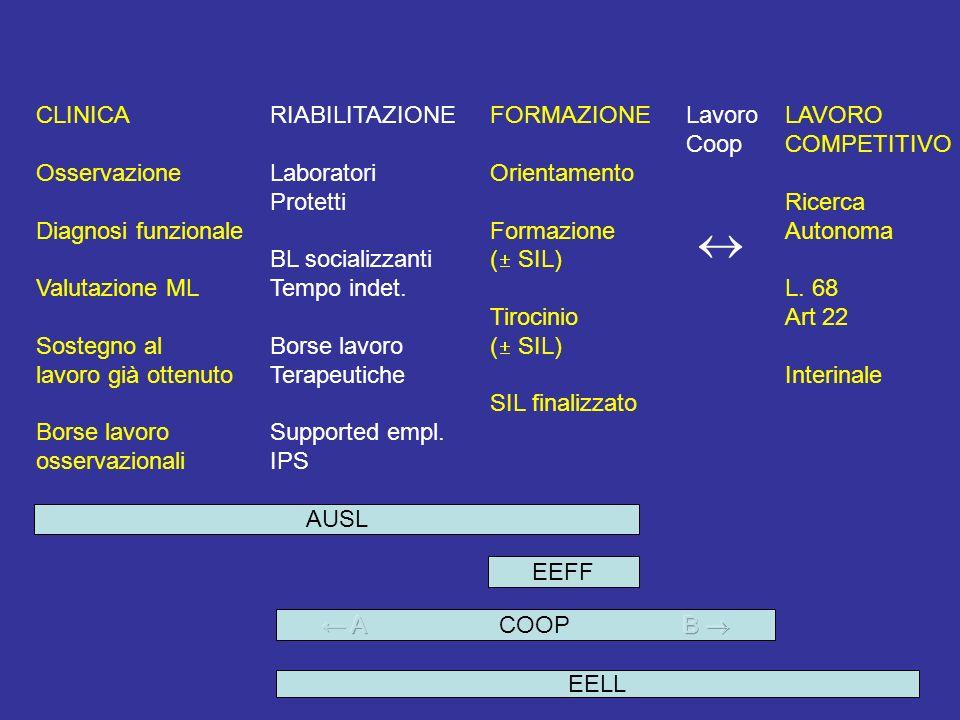  CLINICA Osservazione Diagnosi funzionale Valutazione ML Sostegno al