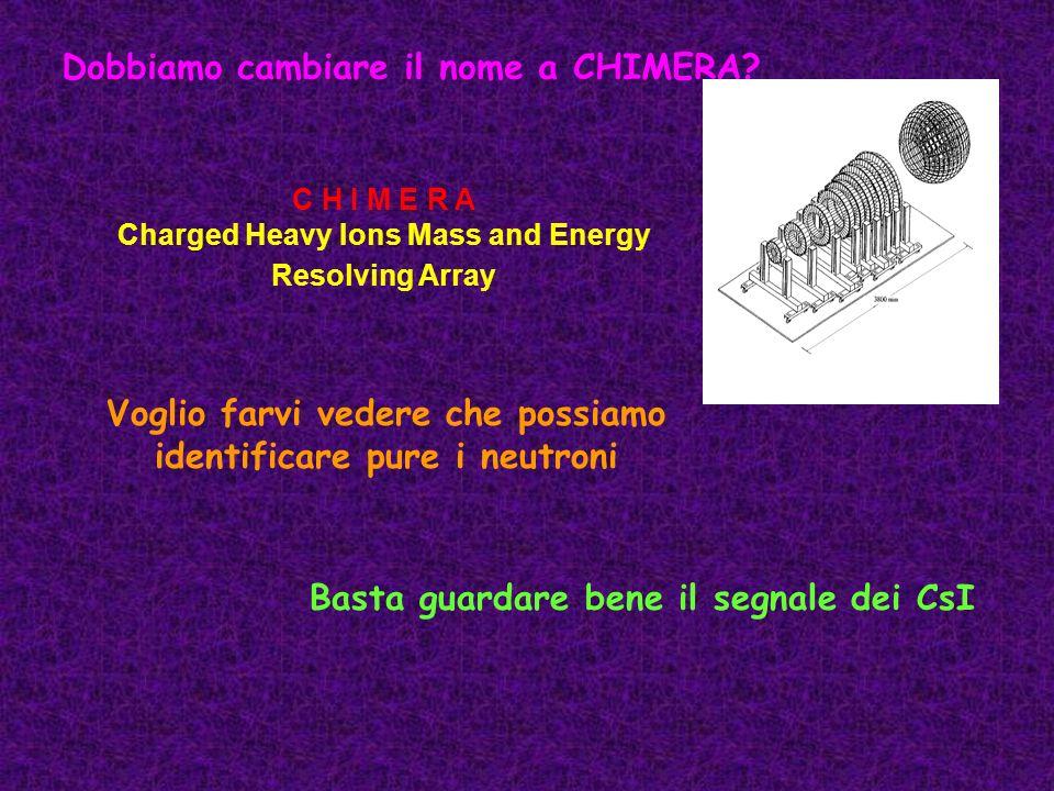 Dobbiamo cambiare il nome a CHIMERA