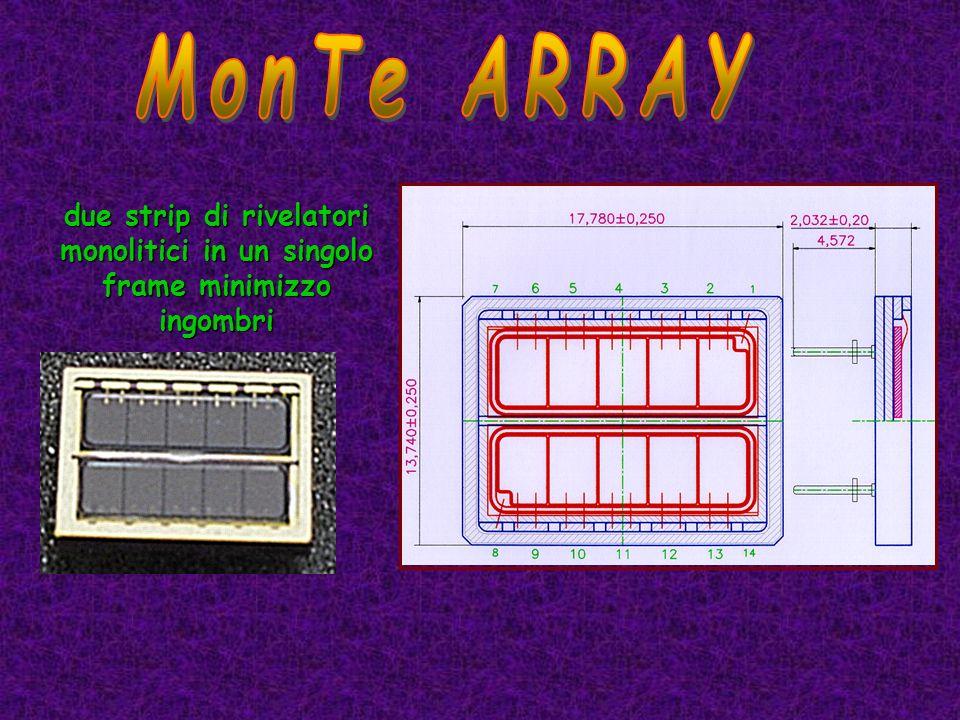MonTe ARRAY due strip di rivelatori monolitici in un singolo frame minimizzo ingombri