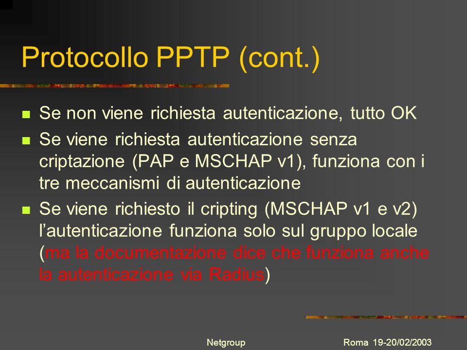 Protocollo PPTP (cont.)