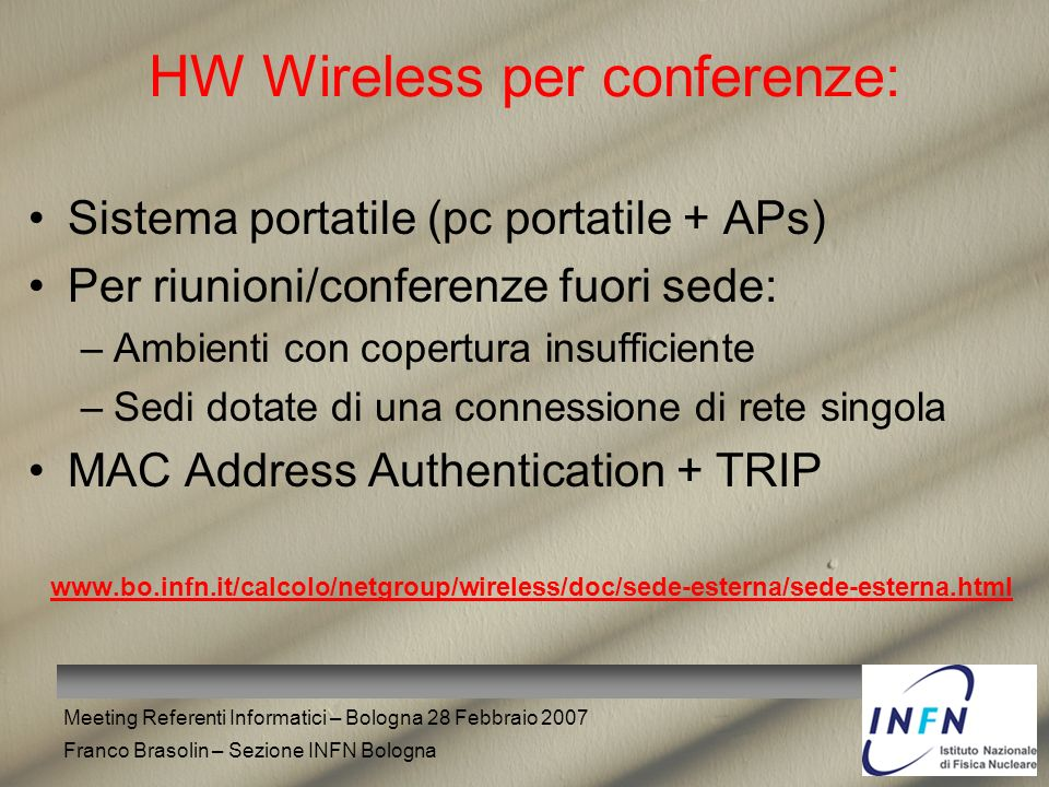 HW Wireless per conferenze:
