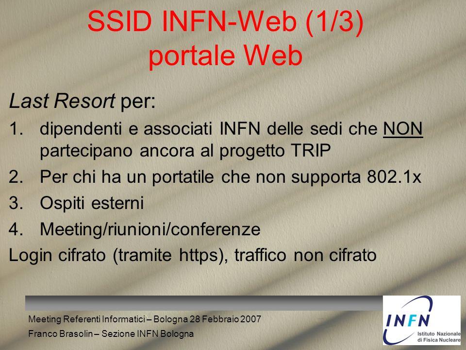 SSID INFN-Web (1/3) portale Web