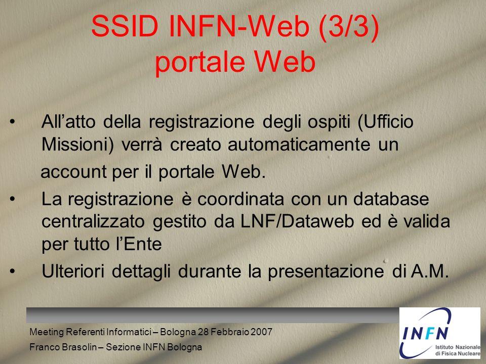 SSID INFN-Web (3/3) portale Web