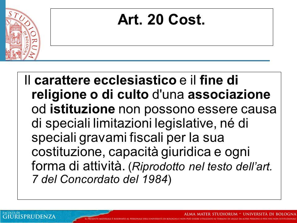 Art. 20 Cost.