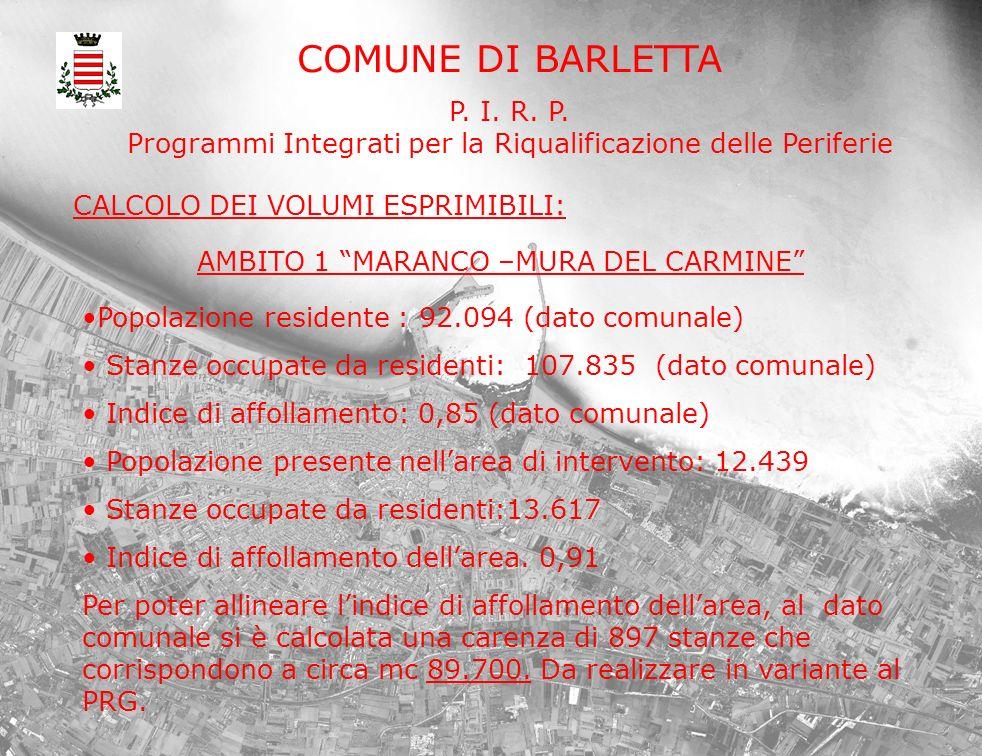 COMUNE DI BARLETTA P. I. R. P.