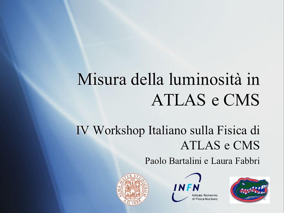 Misura della luminosità in ATLAS e CMS