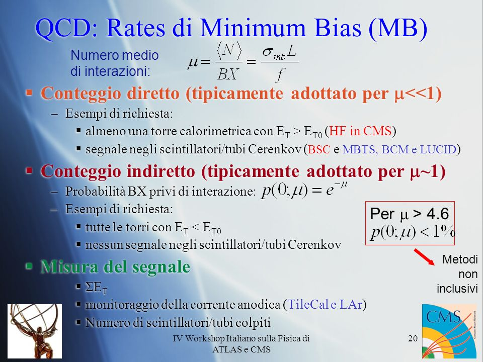 QCD: Rates di Minimum Bias (MB)