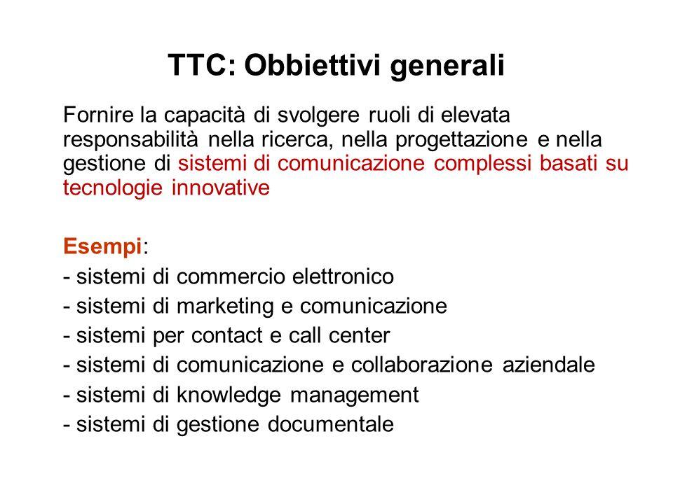 TTC: Obbiettivi generali