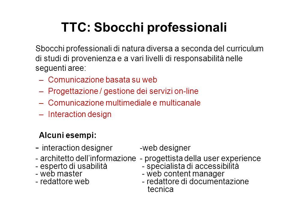 TTC: Sbocchi professionali