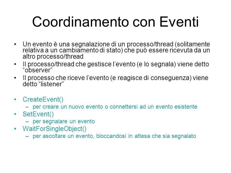 Coordinamento con Eventi
