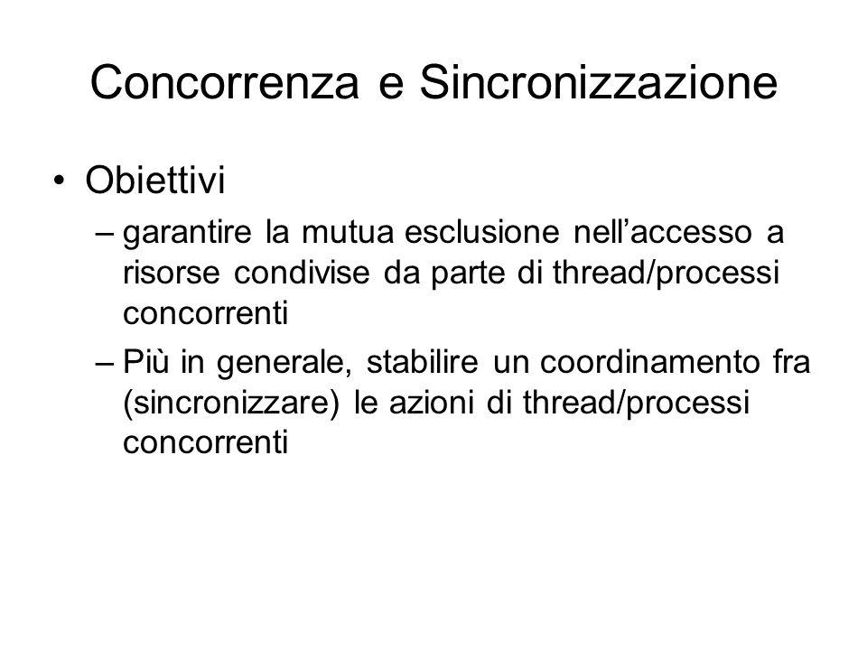 Concorrenza e Sincronizzazione