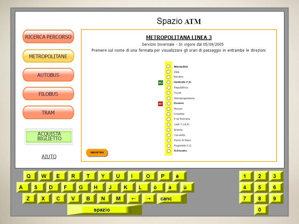 METROPOLITANA LINEA 3 Servizio Invernale - In vigore dal 05/09/2005