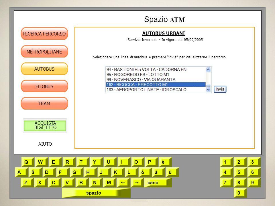 Servizio Invernale - In vigore dal 05/09/2005