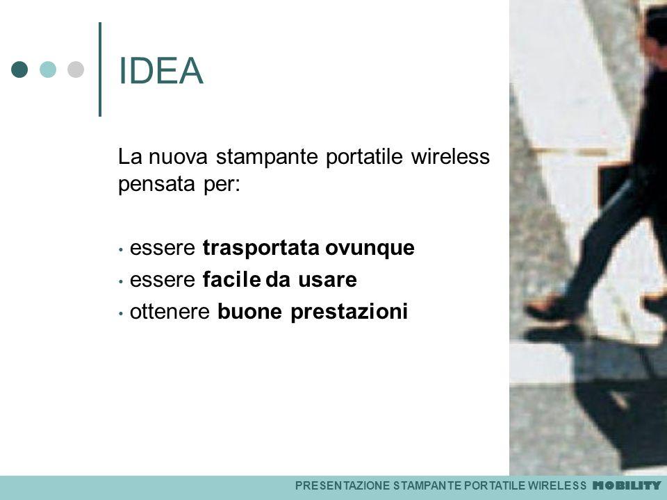 IDEA La nuova stampante portatile wireless pensata per: