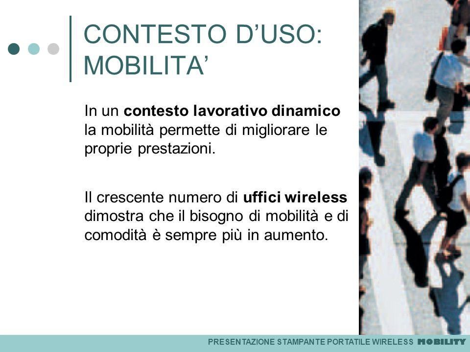 CONTESTO D'USO: MOBILITA'