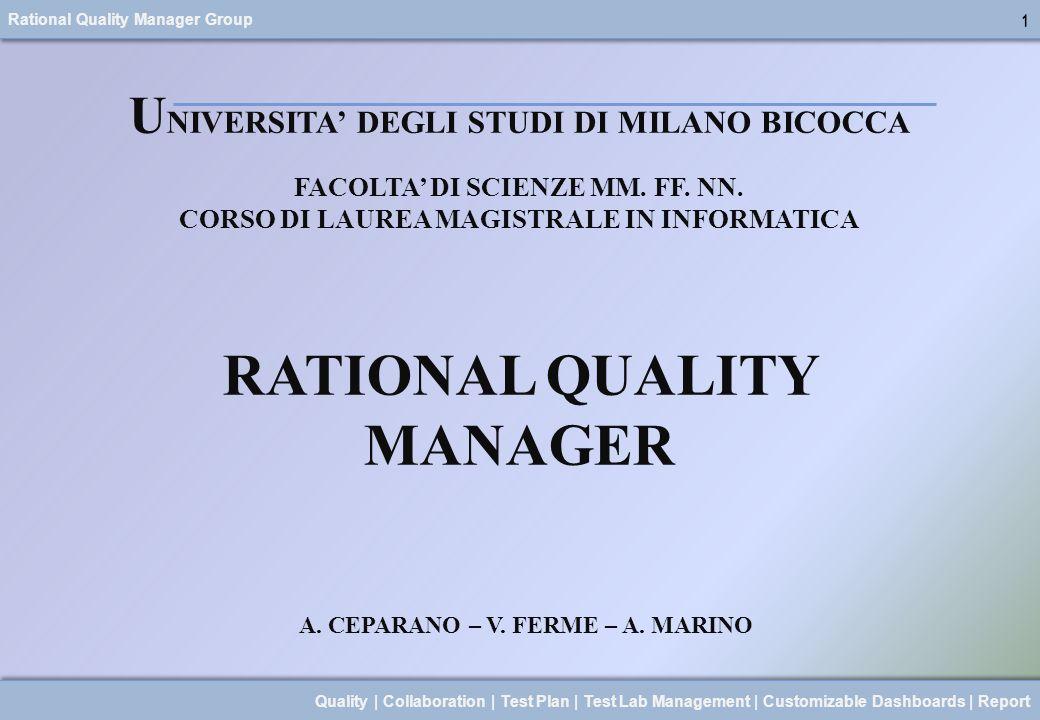 RATIONAL QUALITY MANAGER A. CEPARANO – V. FERME – A. MARINO