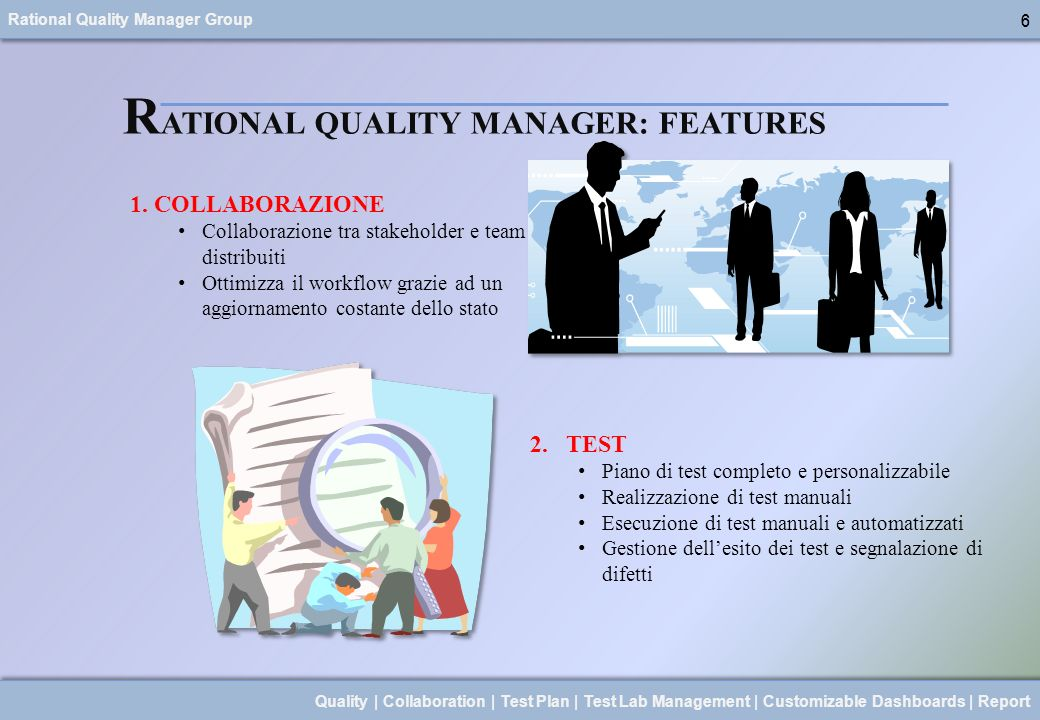 RATIONAL QUALITY MANAGER: FEATURES