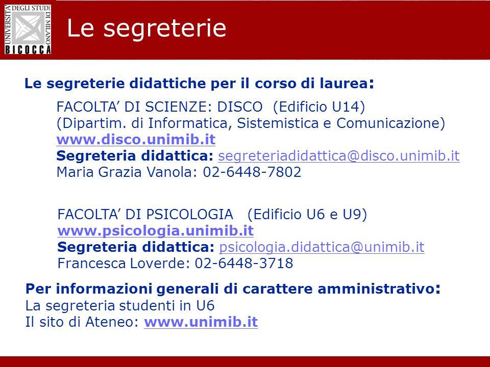 Laurea Magistrale in Informatica - Nuovo regolamento didattico