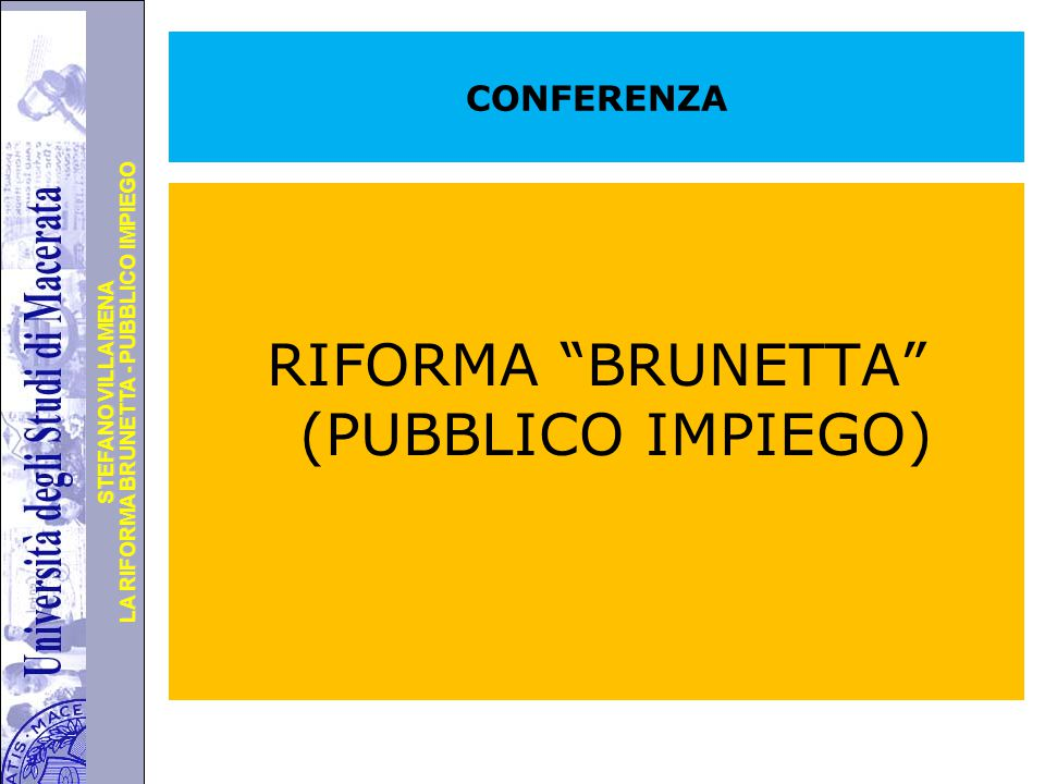 RIFORMA BRUNETTA (PUBBLICO IMPIEGO)