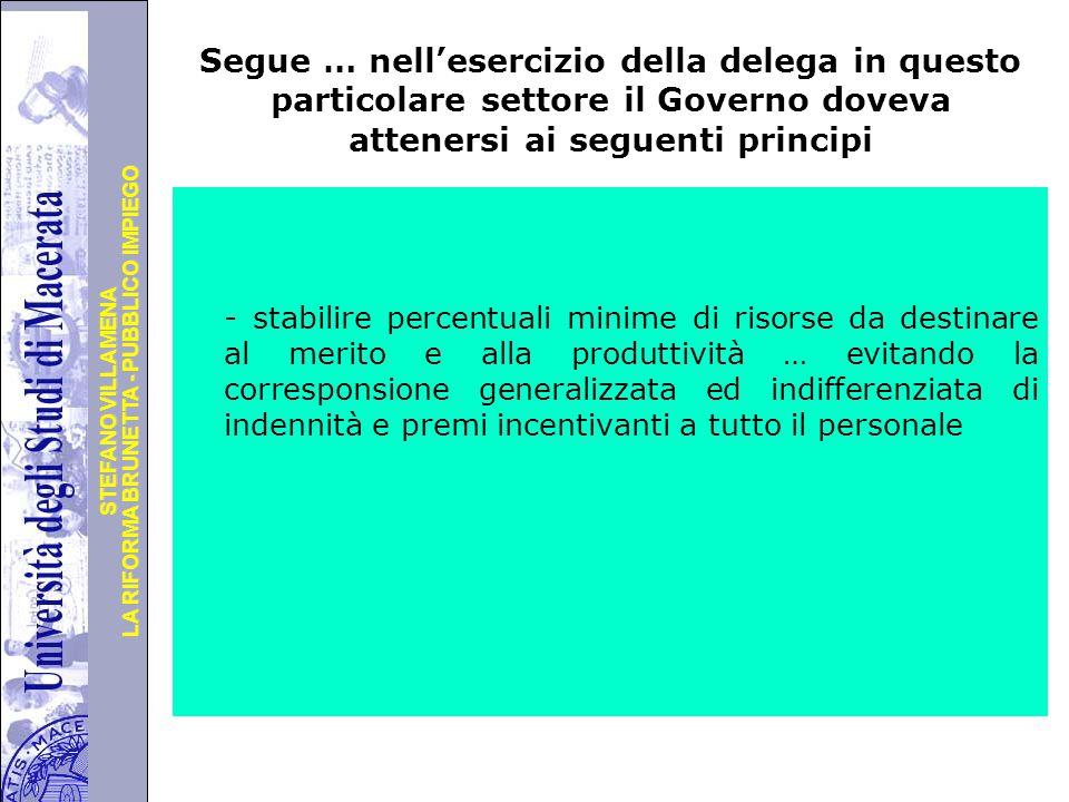 Segue … nell'esercizio della delega in questo particolare settore il Governo doveva attenersi ai seguenti principi